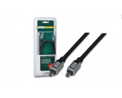 Firewire kabel 4-4 1,8m, sort