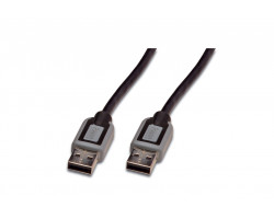 USB kabel 1,8m USB 3.0 sort/gr