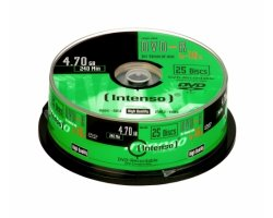 Intenso DVD-R 4,7GB, 16x 25-pa