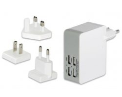 Ednet USB Travel Charger, 4-Po