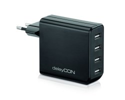 deleyCON Smart USB Wall Charge