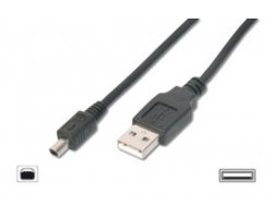 USB MINI A-B 4POL 2,0M