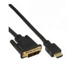 HDMI DVI kabel sort, 0,5m, HDM